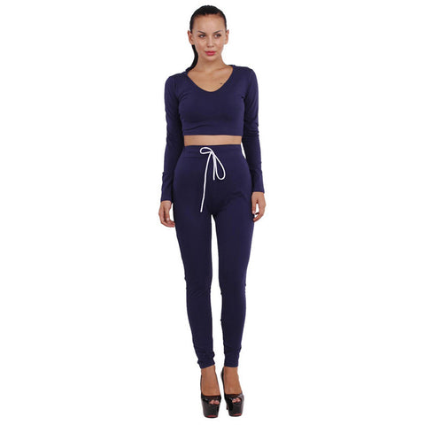 Two Piece Women Jumpsuit Full Pants Long Sleeve Hooded Cotton - CELEBRITYSTYLEFASHION.COM.AU - 1