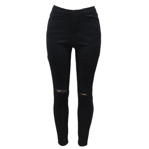 7 Colors High Waisted Cut Out Butt Lifting Destroyed Washed Elastic Slim Sculpt Pencil Jeans - CELEBRITYSTYLEFASHION.COM.AU - 3