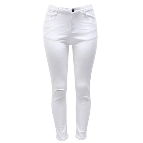 7 Colors High Waisted Cut Out Butt Lifting Destroyed Washed Elastic Slim Sculpt Pencil Jeans - CELEBRITYSTYLEFASHION.COM.AU - 5