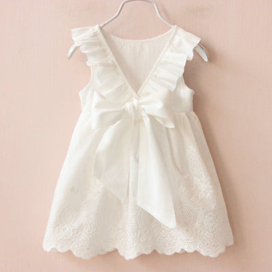 Summer New Princess Girl Dress kids Big Bow Girl Dress Children Clothing dress Girls Vestido Infantis - CelebritystyleFashion.com.au online clothing shop australia