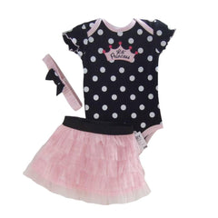 Baby Clothing Set Baby Girl Clothes 3 pcs Sets Romper +Tutu Skirt + Headband 3pcs Sets Polka-dot Princess Tutu Dress - CelebritystyleFashion.com.au online clothing shop australia
