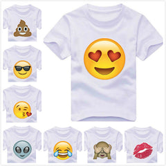 Emoji monkey alien smile lip Print Kids t shirt Boy Girl shirt Casual Children Toddler Clothes Funny Top Tees White Gift ZT-6 - CelebritystyleFashion.com.au online clothing shop australia