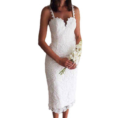 Summer Style White Black Lace Dress V Cami Bodycon Sexy cheap clothes china vestidos de festa mujer Casual office Midi Dresses - CelebritystyleFashion.com.au online clothing shop australia