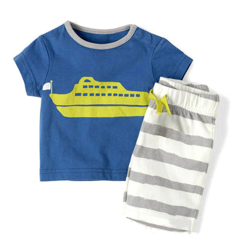 Baby Boy Toddler Short Sleeve T-Shirt Striped Pants Clothes Outfits Sets New Arrival - CelebritystyleFashion.com.au online clothing shop australia