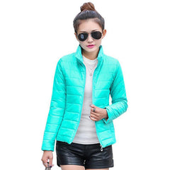 women's jacket to keep warm in winter padded silk ladies fashion casual Slim padded winter jacket 269T - CelebritystyleFashion.com.au online clothing shop australia