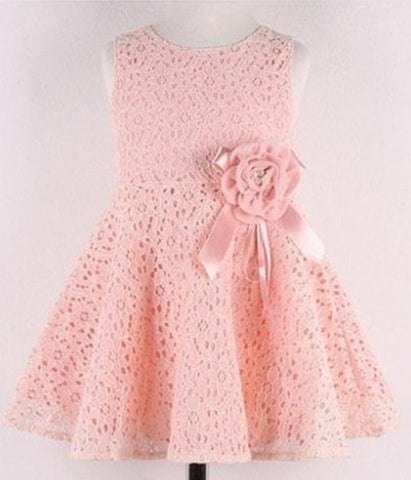 Girl Dress Bow Princess Dress Children Lace Dress Kid Noble Fairy dress - CelebritystyleFashion.com.au online clothing shop australia