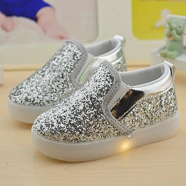 Baby Girls boy LED Light Shoes Toddler Anti-Slip Sports Boots Kids Sneakers Children Cartoon Sequins PU Flats size 21-30 New 183 - CelebritystyleFashion.com.au online clothing shop australia