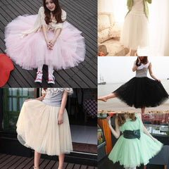 Fashion Women Princess Lace Fairy Style Multilayer Tulle Skirt Bouffant Long skirts - CelebritystyleFashion.com.au online clothing shop australia