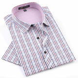 NEW Brand Men's shirts Fashion Casual Plaid short sleeve shirt men Dress shirt spring summber style shirts for man - CelebritystyleFashion.com.au online clothing shop australia