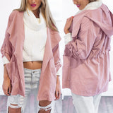 Womens Warm Fashion Hooded Long Coat wind coat Windbreaker Outwear #NS382 - CelebritystyleFashion.com.au online clothing shop australia