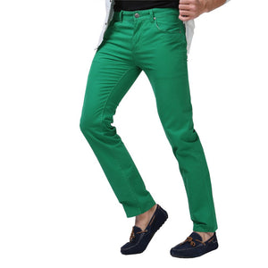 Men Jeans Solid Candy Color Fashion Casual Brand Calca Jeans - CelebritystyleFashion.com.au online clothing shop australia