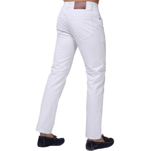 Jeans Men New Brand Fashion Solid Slim Fit White Blue Black Candy Colors Plus Size Mid Straight Denim Pants F1241 - CelebritystyleFashion.com.au online clothing shop australia