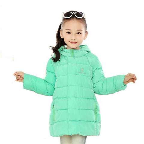 New Brand Kids Girls Winter Jacket Fashion Lightweight Outwear kids Warm Long Coat Down & Parkas - CelebritystyleFashion.com.au online clothing shop australia