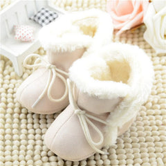 New Cozy Baby Shoes 3 Colors Winter Baby Girl Tie Up Booties Newborn Toddlers Kid Cozy Crib Shoes - CelebritystyleFashion.com.au online clothing shop australia