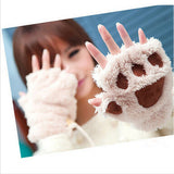 Winter Women Gloves Fluffy Bear Paw Claw Fingerless Cute Toweling Gloves Mittens Christmas Birthday Gift ST001 - CelebritystyleFashion.com.au online clothing shop australia