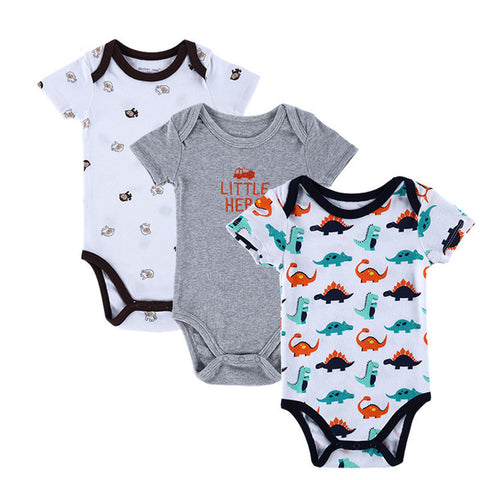 BABY BODYSUITS 3PCS 100%Cotton Infant Body Short Sleeve Clothing Similar Jumpsuit Printed Baby Boy Girl Bodysuits - CelebritystyleFashion.com.au online clothing shop australia