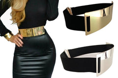 Designer Belts for Woman Gold Silver Brand Belt Classy Elastic ceinture femme 3 color belt ladies Apparel Accessory - CelebritystyleFashion.com.au online clothing shop australia