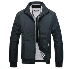 Men Jacket Male Casual Slim Fit Mandarin Collar Solid Jackets M-XXXL Brand New Men's Fashion Overcoat Clothing - CelebritystyleFashion.com.au online clothing shop australia