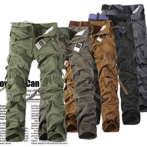 Top Fashion Multi-Pocket Solid Mens Cargo Pants High Quality Plus Size Men Trousers Size 28-42 - CelebritystyleFashion.com.au online clothing shop australia