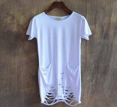 The New Decadent Hole Bottom Design Europe And United States City Boy Men Short Sleeve T Shirt Clothing Personality T Shirts - CelebritystyleFashion.com.au online clothing shop australia