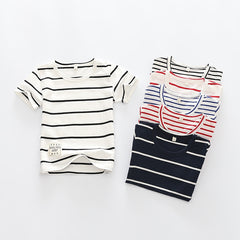 Summer Striped Kids t-shirts Baby Girls Short Sleeve Boys Tees Cotton Children tshirts for Girl Child Kids t Shirts 2-12T - CelebritystyleFashion.com.au online clothing shop australia