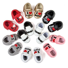 Baby Shoes Boys Girls Tassel Shoes Princess PU Leather Shoes Newborn Baby Moccasins Love Papa Mama Baby First Walker Shoes - CelebritystyleFashion.com.au online clothing shop australia