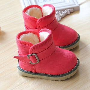Brand Waterproof Children Boots Winter Baby Shoes Girls Cotton - Padded Shoes Ankle Boys Boots - CelebritystyleFashion.com.au online clothing shop australia