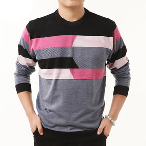 HS High Quality New Autumn Winter Dress Striped Cashmere Wool Pullover Men Sweater Brand Casual Shirts O-Neck Clothing S - XXXXL - CelebritystyleFashion.com.au online clothing shop australia