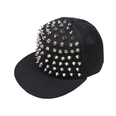 Punk Hedgehog Rock Hip Hop Silver Rivet Stud Spike Spiky Hat Cap Baseball Cap zk - CelebritystyleFashion.com.au online clothing shop australia