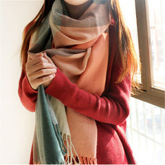 Winter Scarf Women Blanket Plaid Scarf Female Shawls And Scarves Luxury Brand Scarf - CelebritystyleFashion.com.au online clothing shop australia