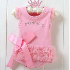 New Pink Bodysuit Princess Dress Kids Baby Girls One-piece T-shirt Style Dresses 0-36M - CelebritystyleFashion.com.au online clothing shop australia