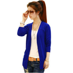 Fashion Women Crochet Knit Long Sleeve Collarless Coat Knitwear Sweater Cardigan Cape - CelebritystyleFashion.com.au online clothing shop australia