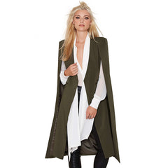 HDY Haoduoyi Autumn Fashion Women 3 Colors Open Stitch Cloak Trench Coats Outwears Poncho Coat - CelebritystyleFashion.com.au online clothing shop australia