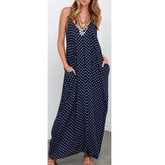 6 Color Sexy ZANZEA Women Strapless Polka Dot Casual Loose Long Maxi Summer Dress Cotton Beach de verano Vestidos Plus Size - CelebritystyleFashion.com.au online clothing shop australia