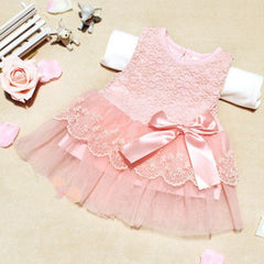 Fashion Baby Girls Sleeveless Lace Crochet Princess Dress Party Dresses - CelebritystyleFashion.com.au online clothing shop australia
