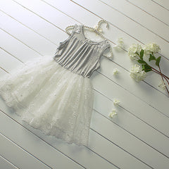 New Summer Girl Dress Sweet Girls Kids Lace Princess Sleeveless Cotton Grey Dress Children Clothing - CelebritystyleFashion.com.au online clothing shop australia