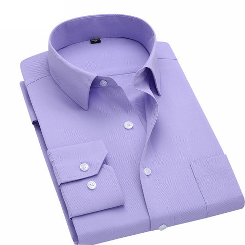 Long Sleeve Slim Men Dress Shirt Brand New Fashion Designer High Quality Solid Male Clothing Fit Business Shirts 4XL YN045 - CelebritystyleFashion.com.au online clothing shop australia