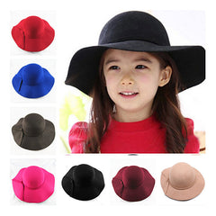 new Vintage Retro Kids Child Boy Girl Hats Fedora polyester Felt Crushable Wide Brim Cloche Floppy Sun Beach Cap - CelebritystyleFashion.com.au online clothing shop australia