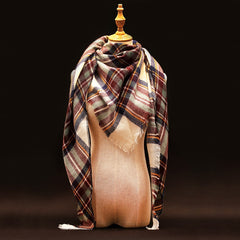 Za Winter Scarf Luxury Brand Tartan Cashmere Scarf Women Wool Plaid Blanket Scarf Pashmina Wrap Shawls and Scarves Hijab - CelebritystyleFashion.com.au online clothing shop australia