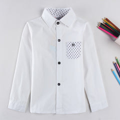 Children pure cotton shirt 2-6y children's clothing casual student boys long sleeve shirt - CelebritystyleFashion.com.au online clothing shop australia