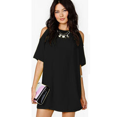 Womens Summer Dresses Summer Short Sleeve Chiffon dress Loose Off Shoulder 3XL Casual Women Dress Plus Size - CelebritystyleFashion.com.au online clothing shop australia