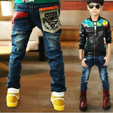 New Children's clothing boys jeans with pocket patchwork style good quality - CelebritystyleFashion.com.au online clothing shop australia
