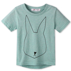 Summer Children Clothes 100%Cotton Jersey allover Rabbit print Short Sleeves Kids boy's girls T shirt . Two colors - CelebritystyleFashion.com.au online clothing shop australia