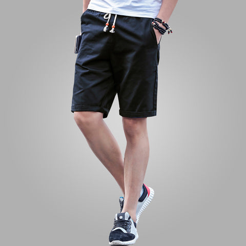 Shorts Men Summer Fashion Mens Shorts Casual Black Cotton Slim Bermuda Masculina Beach Shorts Joggers Trousers Solid Color - CelebritystyleFashion.com.au online clothing shop australia