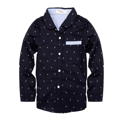 Children Clothes Spring Blouses Boys Tops Children Boys Shirt Dots Long Sleeves Shirts - CelebritystyleFashion.com.au online clothing shop australia