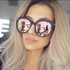 Men Luxury Brand Sunglasses Round Couple Pink Sunglasses Women Driving Sun Glasses Female Lunette Femme Sunglases Rose Gold - CelebritystyleFashion.com.au online clothing shop australia