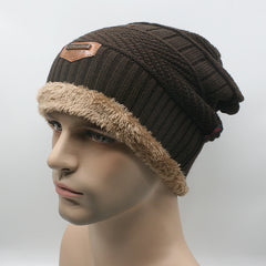 Men Warm Hats Beanie Hat Winter Knitting Wool Hat for Unisex Caps Lady Beanie Knitted Caps Women's Hats Outdoor Warm - CelebritystyleFashion.com.au online clothing shop australia