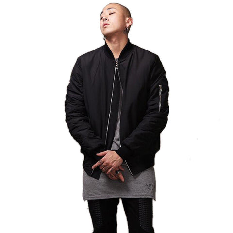 Fashion Mens Military Style Bomber Jacket Black Mens Slim Fit Hip Hop Varsity Baseball Jacket Q1646 - CelebritystyleFashion.com.au online clothing shop australia
