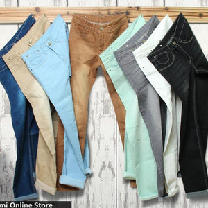 many color Jeans men mens jeans elastic waist skinny men's jeans long slim fit casual trousers denim pants men 28 - 38 36 - CelebritystyleFashion.com.au online clothing shop australia