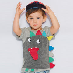 gray boy T-shirts cartoon monster children t shirts kids clothes boy tops and tees boy summer style kids clothing - CelebritystyleFashion.com.au online clothing shop australia